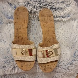 MICHAEL Kors pre-loved MONOGRAM slides